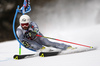 Thomas Fanara of France skiing in the first run of the men giant slalom race of the Audi FIS Alpine skiing World cup in Alta Badia, Italy. Men giant slalom race of the Audi FIS Alpine skiing World cup, was held on Gran Risa course in Alta Badia, Italy, on Sunday, 17th of December 2017.