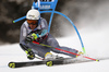 Victor Muffat-Jeandet of France skiing in the first run of the men giant slalom race of the Audi FIS Alpine skiing World cup in Alta Badia, Italy. Men giant slalom race of the Audi FIS Alpine skiing World cup, was held on Gran Risa course in Alta Badia, Italy, on Sunday, 17th of December 2017.