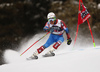 Ted Ligety of USA skiing in the first run of the men giant slalom race of the Audi FIS Alpine skiing World cup in Alta Badia, Italy. Men giant slalom race of the Audi FIS Alpine skiing World cup, was held on Gran Risa course in Alta Badia, Italy, on Sunday, 17th of December 2017.
