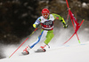 Zan Kranjec of Slovenia skiing in the first run of the men giant slalom race of the Audi FIS Alpine skiing World cup in Alta Badia, Italy. Men giant slalom race of the Audi FIS Alpine skiing World cup, was held on Gran Risa course in Alta Badia, Italy, on Sunday, 17th of December 2017.