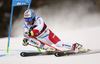 Gino Caviezel of Switzerland skiing in the first run of the men giant slalom race of the Audi FIS Alpine skiing World cup in Alta Badia, Italy. Men giant slalom race of the Audi FIS Alpine skiing World cup, was held on Gran Risa course in Alta Badia, Italy, on Sunday, 17th of December 2017.