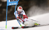 Elia Zurbriggen of Switzerland skiing in the first run of the men giant slalom race of the Audi FIS Alpine skiing World cup in Alta Badia, Italy. Men giant slalom race of the Audi FIS Alpine skiing World cup, was held on Gran Risa course in Alta Badia, Italy, on Sunday, 17th of December 2017.