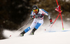 Samu Torsti of Finland skiing in the first run of the men giant slalom race of the Audi FIS Alpine skiing World cup in Alta Badia, Italy. Men giant slalom race of the Audi FIS Alpine skiing World cup, was held on Gran Risa course in Alta Badia, Italy, on Sunday, 17th of December 2017.