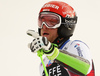 Zan Kranjec of Slovenia reacts in the finish of the second run of the men giant slalom race of the Audi FIS Alpine skiing World cup in Alta Badia, Italy. Men giant slalom race of the Audi FIS Alpine skiing World cup, was held on Gran Risa course in Alta Badia, Italy, on Sunday, 17th of December 2017.