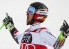 Marcel Hirscher of Austria reacts in the finish of the second run of the men giant slalom race of the Audi FIS Alpine skiing World cup in Alta Badia, Italy. Men giant slalom race of the Audi FIS Alpine skiing World cup, was held on Gran Risa course in Alta Badia, Italy, on Sunday, 17th of December 2017.