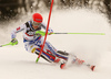 Petra Vlhova of Slovakia skiing in the first run of the women Snow Queen Trophy slalom race of the Audi FIS Alpine skiing World cup in Zagreb, Croatia. Women slalom race of the Audi FIS Alpine skiing World cup, was held on Sljeme above Zagreb, Croatia, on Wednesday, 3rd of January 2018.