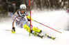 Lena Duerr of Germany skiing in the first run of the women Snow Queen Trophy slalom race of the Audi FIS Alpine skiing World cup in Zagreb, Croatia. Women slalom race of the Audi FIS Alpine skiing World cup, was held on Sljeme above Zagreb, Croatia, on Wednesday, 3rd of January 2018.