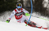 Marcel Hirscher of Austria skiing in the first run of the men Snow Queen Trophy slalom race of the Audi FIS Alpine skiing World cup in Zagreb, Croatia. Men slalom race of the Audi FIS Alpine skiing World cup, was held on Sljeme above Zagreb, Croatia, on Thursday, 4th of January 2018.