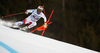 Winner Beat Feuz of Switzerland skiing in men downhill race of the Audi FIS Alpine skiing World cup in Garmisch-Partenkirchen, Germany. Men downhill race of the Audi FIS Alpine skiing World cup was held on Kandahar track in Garmisch-Partenkirchen, Germany, on Saturday, 27th of January 2018.