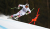 Fifth placed Hannes Reichelt of Austria skiing in men downhill race of the Audi FIS Alpine skiing World cup in Garmisch-Partenkirchen, Germany. Men downhill race of the Audi FIS Alpine skiing World cup was held on Kandahar track in Garmisch-Partenkirchen, Germany, on Saturday, 27th of January 2018.