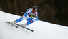 Andreas Romar of Finland skiing in men downhill race of the Audi FIS Alpine skiing World cup in Garmisch-Partenkirchen, Germany. Men downhill race of the Audi FIS Alpine skiing World cup was held on Kandahar track in Garmisch-Partenkirchen, Germany, on Saturday, 27th of January 2018.