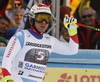 Beat Feuz of Switzerland reacts in finish of the men downhill race of the Audi FIS Alpine skiing World cup in Garmisch-Partenkirchen, Germany. Men downhill race of the Audi FIS Alpine skiing World cup was held on Kandahar track in Garmisch-Partenkirchen, Germany, on Saturday, 27th of January 2018.