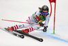 Manuel Feller of Austria skiing in the first run of the men giant slalom race of the Audi FIS Alpine skiing World cup in Kranjska Gora, Slovenia. Men giant slalom race of the Audi FIS Alpine skiing World cup was held on Podkoren track in Kranjska Gora, Slovenia, on Saturday, 4th of March 2018.