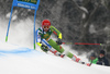Zan Kranjec of Slovenia skiing in the first run of the men giant slalom race of the Audi FIS Alpine skiing World cup in Kranjska Gora, Slovenia. Men giant slalom race of the Audi FIS Alpine skiing World cup was held on Podkoren track in Kranjska Gora, Slovenia, on Saturday, 4th of March 2018.