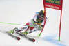 Justin Murisier of Switzerland skiing in the first run of the men giant slalom race of the Audi FIS Alpine skiing World cup in Kranjska Gora, Slovenia. Men giant slalom race of the Audi FIS Alpine skiing World cup was held on Podkoren track in Kranjska Gora, Slovenia, on Saturday, 4th of March 2018.