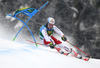 Loic Meillard of Switzerland skiing in the first run of the men giant slalom race of the Audi FIS Alpine skiing World cup in Kranjska Gora, Slovenia. Men giant slalom race of the Audi FIS Alpine skiing World cup was held on Podkoren track in Kranjska Gora, Slovenia, on Saturday, 4th of March 2018.