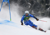 Riccardo Tonetti of Italy skiing in the first run of the men giant slalom race of the Audi FIS Alpine skiing World cup in Kranjska Gora, Slovenia. Men giant slalom race of the Audi FIS Alpine skiing World cup was held on Podkoren track in Kranjska Gora, Slovenia, on Saturday, 4th of March 2018.