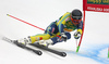 Andre Myhrer of Sweden skiing in the first run of the men giant slalom race of the Audi FIS Alpine skiing World cup in Kranjska Gora, Slovenia. Men giant slalom race of the Audi FIS Alpine skiing World cup was held on Podkoren track in Kranjska Gora, Slovenia, on Saturday, 4th of March 2018.