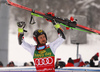 Winner Marcel Hirscher of Austria celebrates after the men giant slalom race of the Audi FIS Alpine skiing World cup in Kranjska Gora, Slovenia. Men giant slalom race of the Audi FIS Alpine skiing World cup was held on Podkoren track in Kranjska Gora, Slovenia, on Saturday, 4th of March 2018..