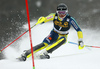 Andre Myhrer of Sweden skiing in the first run of the men slalom race of the Audi FIS Alpine skiing World cup in Kranjska Gora, Slovenia. Men slalom race of the Audi FIS Alpine skiing World cup was held on Podkoren track in Kranjska Gora, Slovenia, on Sunday, 4th of March 2018.