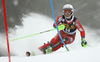 Sebastian Foss-Solevaag of Norway skiing in the first run of the men slalom race of the Audi FIS Alpine skiing World cup in Kranjska Gora, Slovenia. Men slalom race of the Audi FIS Alpine skiing World cup was held on Podkoren track in Kranjska Gora, Slovenia, on Sunday, 4th of March 2018.
