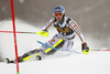 Fritz Dopfer of Germany skiing in the first run of the men slalom race of the Audi FIS Alpine skiing World cup in Kranjska Gora, Slovenia. Men slalom race of the Audi FIS Alpine skiing World cup was held on Podkoren track in Kranjska Gora, Slovenia, on Sunday, 4th of March 2018.