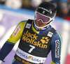 Andre Myhrer of Sweden reacts in finish of the second run of the men slalom race of the Audi FIS Alpine skiing World cup in Kranjska Gora, Slovenia. Men slalom race of the Audi FIS Alpine skiing World cup was held on Podkoren track in Kranjska Gora, Slovenia, on Sunday, 4th of March 2018.