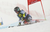 Erika Pykalainen of Finland skiing in the first run of the women giant slalom race of the Audi FIS Alpine skiing World cup in Soelden, Austria. First women race of the Audi FIS Alpine skiing World cup season 2018-2019 was held on Rettenbach glacier above Soelden, Austria, on Saturday, 27th of October 2018.