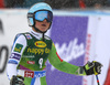 Meta Hrovat of Slovenia reacts in finish of the second run of the women giant slalom race of the Audi FIS Alpine skiing World cup in Soelden, Austria. First women race of the Audi FIS Alpine skiing World cup season 2018-2019 was held on Rettenbach glacier above Soelden, Austria, on Saturday, 27th of October 2018.