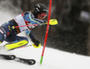 Anna Swenn Larsson of Sweden skiing in the first run of the women slalom race of the Audi FIS Alpine skiing World cup on Sljeme above Zagreb, Croatia. Women slalom race of the Audi FIS Alpine skiing World cup season 2018-2019 was held on Sljeme above Zagreb, Croatia, on Saturday, 5thth of January 2019.