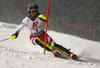 Katharina Liensberger of Austria skiing in the first run of the women slalom race of the Audi FIS Alpine skiing World cup Flachau, Austria. Women slalom race of the Audi FIS Alpine skiing World cup season 2018-2019 was held Flachau, Austria, on Tuesday, 8th of January 2019.