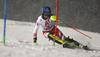 Bernadette Schild of Austria skiing in the first run of the women slalom race of the Audi FIS Alpine skiing World cup Flachau, Austria. Women slalom race of the Audi FIS Alpine skiing World cup season 2018-2019 was held Flachau, Austria, on Tuesday, 8th of January 2019.