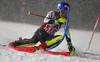 Mikaela Shiffrin of USA skiing in the first run of the women slalom race of the Audi FIS Alpine skiing World cup Flachau, Austria. Women slalom race of the Audi FIS Alpine skiing World cup season 2018-2019 was held Flachau, Austria, on Tuesday, 8th of January 2019.