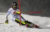 Chiara Costazza of Italy skiing in the first run of the women slalom race of the Audi FIS Alpine skiing World cup Flachau, Austria. Women slalom race of the Audi FIS Alpine skiing World cup season 2018-2019 was held Flachau, Austria, on Tuesday, 8th of January 2019.