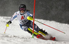 Riikka Honkanen of Finland skiing in the first run of the women slalom race of the Audi FIS Alpine skiing World cup Flachau, Austria. Women slalom race of the Audi FIS Alpine skiing World cup season 2018-2019 was held Flachau, Austria, on Tuesday, 8th of January 2019.