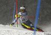Nella Korpio of Finland skiing in the first run of the women slalom race of the Audi FIS Alpine skiing World cup Flachau, Austria. Women slalom race of the Audi FIS Alpine skiing World cup season 2018-2019 was held Flachau, Austria, on Tuesday, 8th of January 2019.