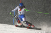 Petra Vlhova of Slovakia skiing in the first run of the women slalom race of the Audi FIS Alpine skiing World cup Flachau, Austria. Women slalom race of the Audi FIS Alpine skiing World cup season 2018-2019 was held Flachau, Austria, on Tuesday, 8th of January 2019.