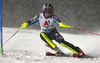 Frida Hansdotter of Sweden skiing in the first run of the women slalom race of the Audi FIS Alpine skiing World cup Flachau, Austria. Women slalom race of the Audi FIS Alpine skiing World cup season 2018-2019 was held Flachau, Austria, on Tuesday, 8th of January 2019.