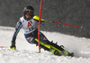 Emelie Wikstroem of Sweden skiing in the first run of the women slalom race of the Audi FIS Alpine skiing World cup Flachau, Austria. Women slalom race of the Audi FIS Alpine skiing World cup season 2018-2019 was held Flachau, Austria, on Tuesday, 8th of January 2019.