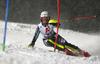 Magdalena Fjaellstroem of Sweden skiing in the first run of the women slalom race of the Audi FIS Alpine skiing World cup Flachau, Austria. Women slalom race of the Audi FIS Alpine skiing World cup season 2018-2019 was held Flachau, Austria, on Tuesday, 8th of January 2019.