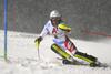 Wendy Holdener of Switzerland skiing in the first run of the women slalom race of the Audi FIS Alpine skiing World cup Flachau, Austria. Women slalom race of the Audi FIS Alpine skiing World cup season 2018-2019 was held Flachau, Austria, on Tuesday, 8th of January 2019.