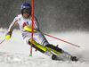 Christina Geiger of Germany skiing in the first run of the women slalom race of the Audi FIS Alpine skiing World cup Flachau, Austria. Women slalom race of the Audi FIS Alpine skiing World cup season 2018-2019 was held Flachau, Austria, on Tuesday, 8th of January 2019.