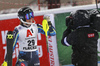 Ylva Staalnacke of Sweden reacts in finish of the second run of the women slalom race of the Audi FIS Alpine skiing World cup Flachau, Austria. Women slalom race of the Audi FIS Alpine skiing World cup season 2018-2019 was held Flachau, Austria, on Tuesday, 8th of January 2019.