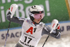 Kristin Lysdahl of Norway reacts in finish of the second run of the women slalom race of the Audi FIS Alpine skiing World cup Flachau, Austria. Women slalom race of the Audi FIS Alpine skiing World cup season 2018-2019 was held Flachau, Austria, on Tuesday, 8th of January 2019.
