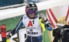 Frida Hansdotter of Sweden reacts in finish of the second run of the women slalom race of the Audi FIS Alpine skiing World cup Flachau, Austria. Women slalom race of the Audi FIS Alpine skiing World cup season 2018-2019 was held Flachau, Austria, on Tuesday, 8th of January 2019.