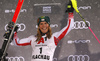 After Anna Swenn Larsson of Sweden got disqualified  Katharina Liensberger of Austria (1) placed third in the women slalom race of the Audi FIS Alpine skiing World cup Flachau, Austria. Women slalom race of the Audi FIS Alpine skiing World cup season 2018-2019 was held Flachau, Austria, on Tuesday, 8th of January 2019.