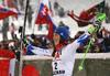 Winner  Petra Vlhova of Slovakia celebrates after the women slalom race of the Audi FIS Alpine skiing World cup Flachau, Austria. Women slalom race of the Audi FIS Alpine skiing World cup season 2018-2019 was held Flachau, Austria, on Tuesday, 8th of January 2019.
