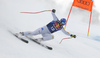 Dominik Paris of Italy skiing during men downhill race of the Audi FIS Alpine skiing World cup Kitzbuehel, Austria. Men downhill Hahnenkamm race of the Audi FIS Alpine skiing World cup season 2018-2019 was held Kitzbuehel, Austria, on Friday, 25th of January 2019.