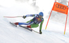 Klemen Kosi of Slovenia skiing during men downhill race of the Audi FIS Alpine skiing World cup Kitzbuehel, Austria. Men downhill Hahnenkamm race of the Audi FIS Alpine skiing World cup season 2018-2019 was held Kitzbuehel, Austria, on Friday, 25th of January 2019.
