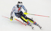 Jens Henttinen of Finland skiing during first run of men slalom race of the Audi FIS Alpine skiing World cup Kitzbuehel, Austria. Men slalom Hahnenkamm race of the Audi FIS Alpine skiing World cup season 2018-2019 was held Kitzbuehel, Austria, on Saturday, 26th of January 2019.